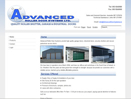Advanced Door Systems: all types of doors - garage / roller / industrial / pedestrian access; steel security shutters.